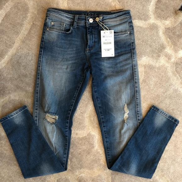 cba277b1 Zara Jeans | New Distressed Denim Skinny Light Wash | Poshmark